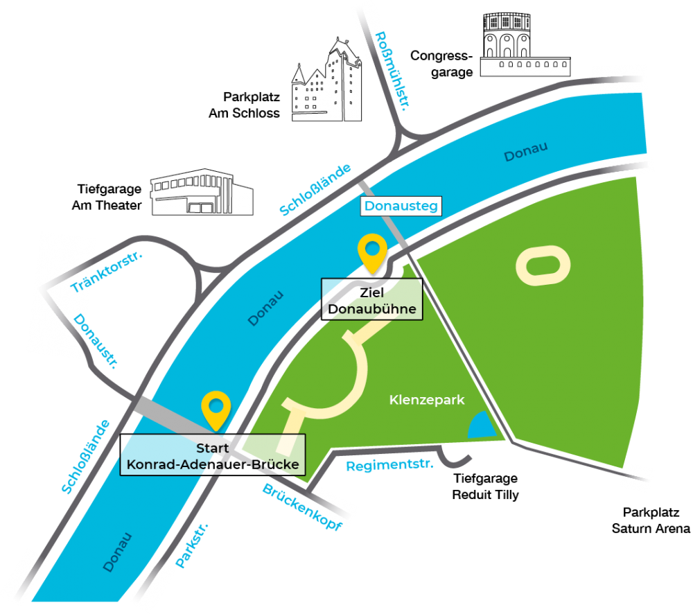Anfahrtsskizze Klenzepark Ingolstadt